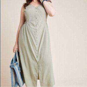 Cloth & Stone Matcha Button Down Maxi Dress 2X